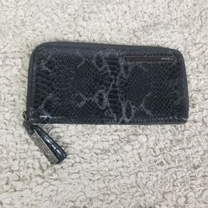 Kenneth Cole Black & Silver Faux Snake Skin Wallet
